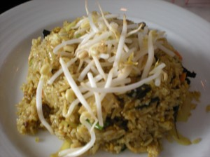 Turmeric Saffron Fried Rice with Chicken (AN's 2nd plate)